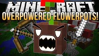 OVERPOWERED FLOWERPOTS | Minecraft: Block Hunt Minigame!