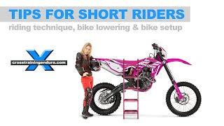 10. SHORT RIDER TIPS, BIKE LOWERING & SETUP: Cross Training Enduro Skills