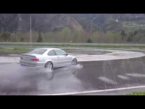 My first time drifting with my bmw e46 328ci open diff