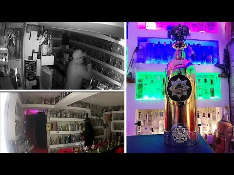 BINTEO: Έκλεψαν μπουκάλι βότκας αξίας ενός εκατομμυρίου ευρώ από μπαρ!…