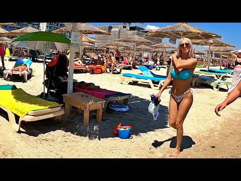 Constanta, Plaja Mamaia 2020, Romania - Sunny Beach Fun Walk