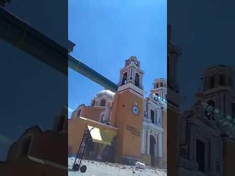 SE CAEN LAS CÚPULAS de IGLESIA DE LOS REMEDIOS  CHOLULA PUEBLA
