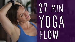 Video 27 Minute Yoga Flow with Fightmaster Yoga MP3, 3GP, MP4, WEBM, AVI, FLV Maret 2018