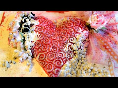 decoupage tutorial – cuore per san valentino