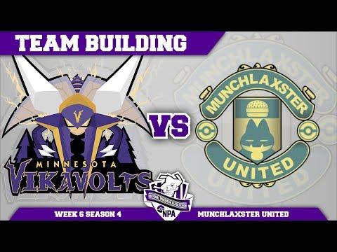Minnesota Vikavolts Team Building NPA S4 W6: VS Munchlaxster United   Pokemon Ultra Sun and Moon (видео)