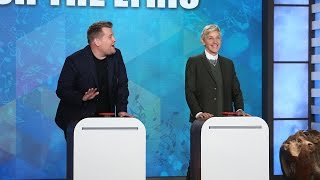 Video 'Finish the Lyric' with Ellen, James Corden & Jesse Tyler Ferguson MP3, 3GP, MP4, WEBM, AVI, FLV Januari 2018