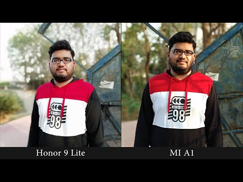 Honor 9 Lite vs Mi A1 Camera Comparison Portrait selfies and Portrait shots