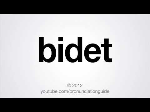 How To Pronounce Bidet