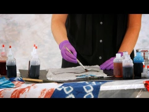 How to Paint with Fiber Reactive Dyes | Tie Dyeing