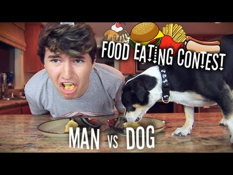 Man vs Dog%3A Food Eating Contest