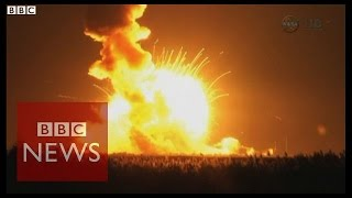 Unmanned rocket explodes LIVE on-air seconds after lift off - BBC News