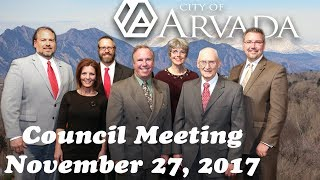 Preview image of Arvada City Council Meeting - November 27, 2017