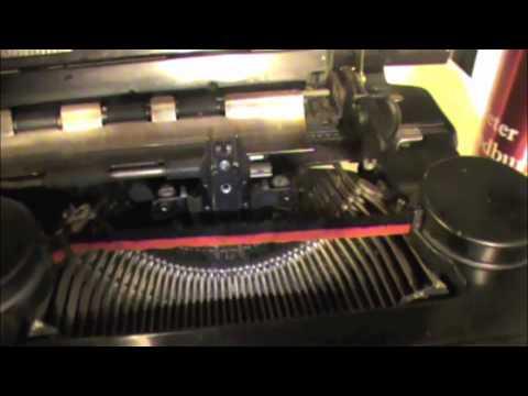 how to repair typewriter
