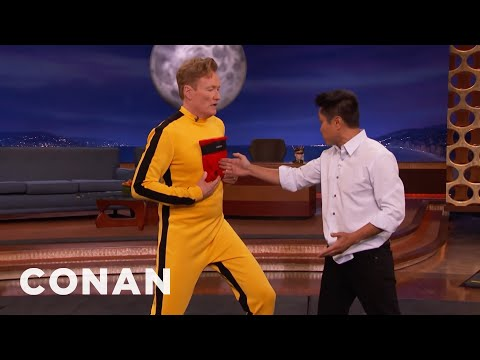 Steven Ho Hits Conan With Bruce Lee& 39;s One Inch Punch  - CONAN on TBS