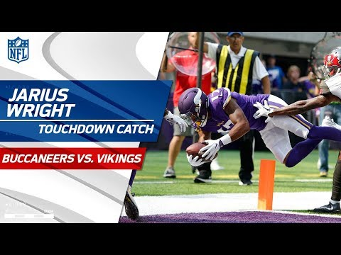 Video: Adam Thielen's Great Sideline Grab & Jarius Wright's TD Catch! | Bucs vs. Vikings | NFL Wk 3