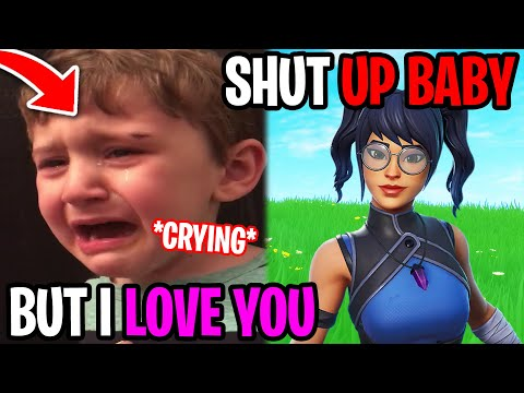 Gold Digger Makes Little Kid Cry - Fortnite
