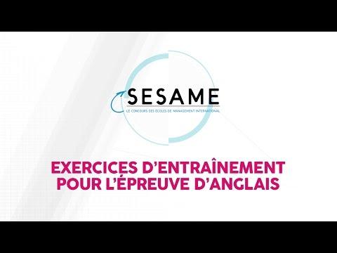 Concours Sesame - Exercices d'entrainement pour l'épreuve d'anglais