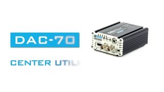 DAC-70 Center Utility Features