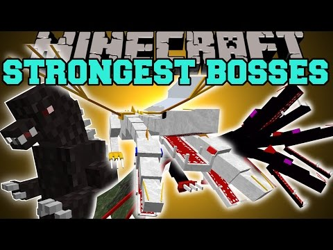 Minecraft: OVERPOWERED BOSSES (THE STRONGEST MOBS ALIVE!) Mod Showcase