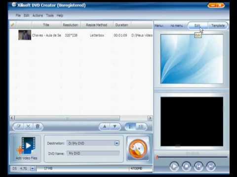 Como criar um dvd com o xilisoft dvd creator