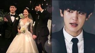 Park Chanyeol cried badly at Sister Yoora's wedding at leaving time ❤but singing happily..true bro💞