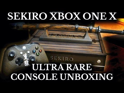 Sekiro Limited Edition Xbox One X Console - Unboxing and Overview - Ultra Rare Xbox Console