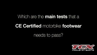 TCX BOOTS: The CE Certification of a motorbike footwear