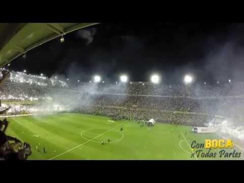Espectacular recibimiento superclásico - La 12 - Boca Juniors