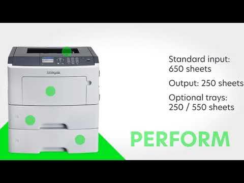 Lexmark MS617dn Compact Laser Printer, Monochrome, Networking, Duplex
