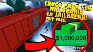 (MUY FACIL!) TRUCO PARA SER MILLONARIO en JAILBREAK!!! ROBAR el TREN DESDE FUERA!! (Roblox)