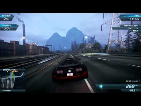 Bugatti Top Speed - Top Speed with Short Gears Pro: 268mph / 431 kmh Top Speed with Long Gears Pro: 280 mph / 451 kmh Need For Speed Most Wanted 2012 (NFS001) Ultimate Speed Pac...