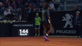 Tennis Highlights, Video - 2016 Internazionali BNL d'Italia Quarterfinal | Serena Williams vs Kuznetsova | WTA Highlights