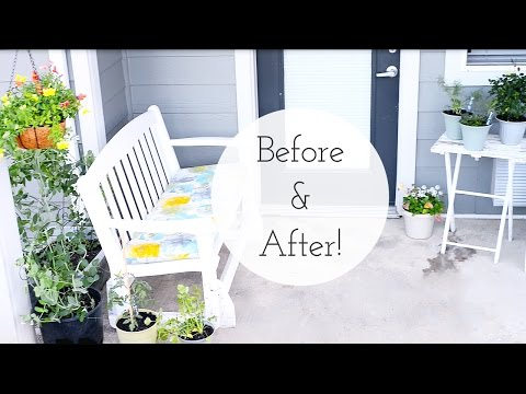 , title : 'Apartment Patio Garden on a Budget | Dollar Tree - Before and After'