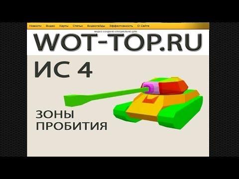 ИС 4 пробитие [World of Tanks] модель и зоны пробития