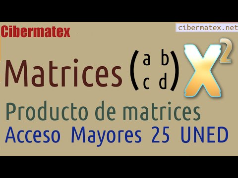 Producto Matrices Acceso Mayores 25 UNED Junio 2014