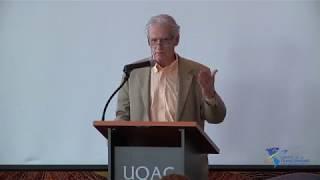 Conférence d'ouverture de l'Université d'été par Gérard Bouchard, président d'honneur de la 5e édition de l'Université d'été, historien, sociologue et titulaire de la Chaire de recherche du Canada sur les imaginaires collectifs de l'Université du Québec à Chicoutimi (Québec).