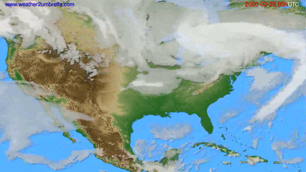 Cloud forecast USA & Canada // modelrun: 00h UTC 2020-02-27