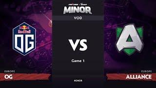 [RU] OG vs Alliance, Game 1, EU Qualifiers, StarLadder ImbaTV Dota 2 Minor