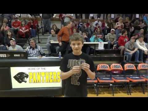 Tri-County Conference Free Throw Champ Zach Meinhold (Roanoke Benson) Illinois