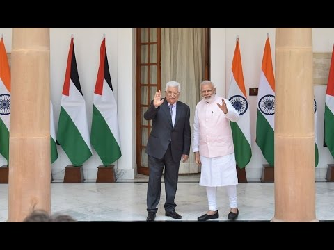 PM Modi and President of Palestine, Mr. Mahmoud Abbas at Joint Press Statements
