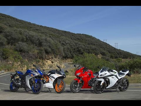 Download Video 2015 SMALL SPORTBIKE SHOOTOUT | RC390 Vs YZF-R3 Vs CBR300R Vs Ninja 300 | ON TWO WHEELS