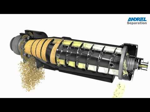 ANDRITZ SEPARATION- 3D animation of 2-phase decanter centrifuge with CIP