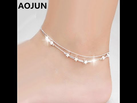 Video FANCY SILVER ANKLET DESIGNS FOR GIRLS/SILVER PAYAL DESIGNS/SILVER JEWELLERY NEAR ME/PAZEB download in MP3, 3GP, MP4, WEBM, AVI, FLV January 2017