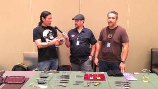 The two most camera shy people in the knife business get pinned down for a quick interview at the 2013 New York Custom Knife Show.