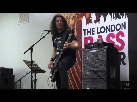 Frank Bello performs 'Caught in a Mosh' at London Bass Guitar Show 2014