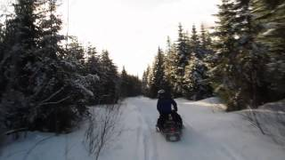 4. This is what snowmobiling is all about - Yamaha Venture 600 and VMax 500