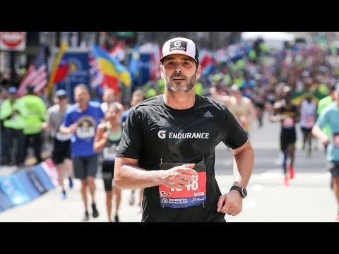 NASCAR Driver Jimmie Johnson Completes 2019 Boston Marathon