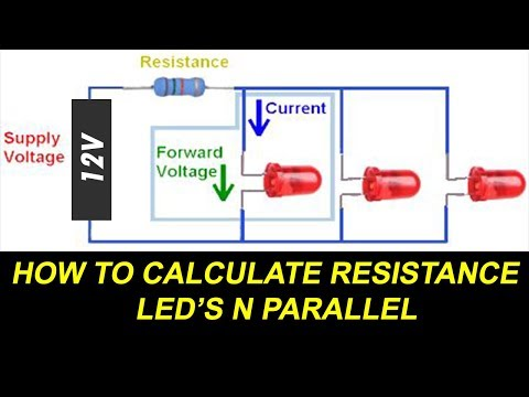 How to Connect LEDs in Parallel and Calculate LED Resistance For Parallel Circuit