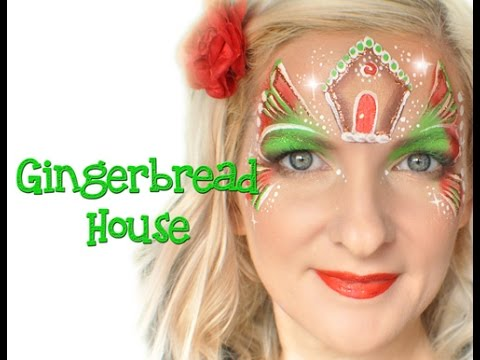 Gingerbread House Face Painting Tutorial