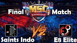 Video FINAL MATCH | SAINTS INDO vs E8 ELITE - MSC Championship Indonesia Mobile Legends MP3, 3GP, MP4, WEBM, AVI, FLV November 2017